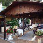 Il terrazzo dove viene servita la colazione