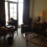 Our son took advantage of the free wifi in the Tai Pan Club rooms!