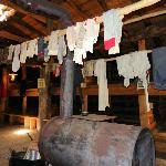 Clothes drying in the bunkhouse