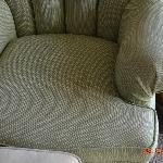 stains on the armchair