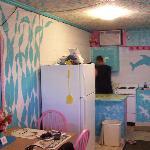 kitchen area of efficiency room #9...