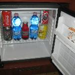 free mini-bar in room - stocked daily
