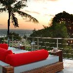 A beautiful Balinese sunset at TAO Rooftop Bar.