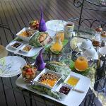 Tropical breakfast on the deck