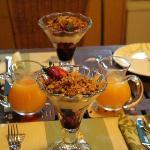 Fruit, museli and yoghurt - breakfast 1st course