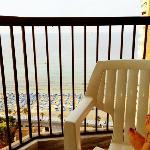 Sitting on the balcony