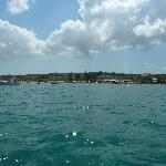 Tsilivi beach from the sea