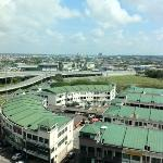 view from the 8th floor. One can find cheap hawker food there.