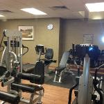 great fitness center with dumbells