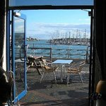 View from restaurant and patio across the harbour
