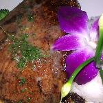 Blackened Swordfish with white wine lemon butter sauce