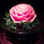 water melon flower carved by our exc. chef for all reviewers