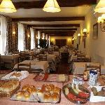 Generous breakfast buffet