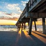 Jacksonville Beach (FL) Pier at Sunrise