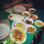 sea food curry and chicken biryani