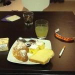 la colazione me lo portata in camera