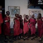 Spettacolo masai al Kenga