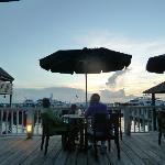 Marina bar & restaurant at sunset