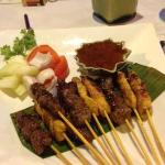 Traditional chicken and beef Satays....absolutely awesome.