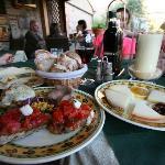 pecorino cheeses with honey/jam & bruschetta platters