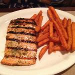 Grilled Salmon with Sweet Potato Fries