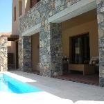 Terrasse/piscine privée de la Island suite
