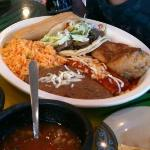 Mexican Sampler Taco, Tamele, Chili Releno (stuffed with White Mexican Cheese)