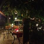 The outdoor restaurant at night!!