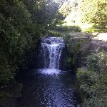 The waterfall is a fair hike alongside the river, but pleasantly situated.