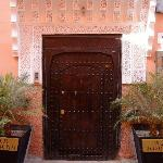 The entrance to the Riad Adriana