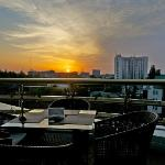 Feride: sunset view from the terrace