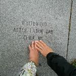 White Wind plaque at First Pilgrim Park