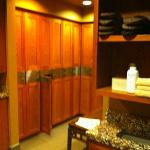 Men's lockers in spa