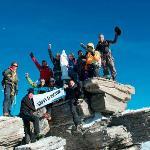 Everyone at the peak of Gran Paradiso