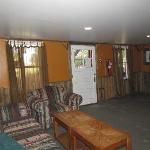 common area/living room in the bunk house