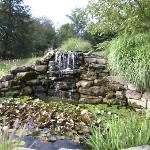 waterfall feature on property