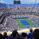 Another daytime view from the higher seats at Arthur Ashe