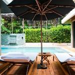 Private pool and alfresco area