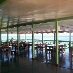 Large cool dining with sea view