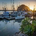 Morro Bay sunset. Just a few blocks walk from the motel.