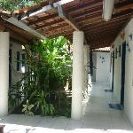 Area de acesso aos quartos