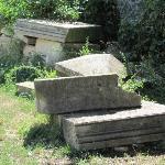 Next to Okresní Soud, remains of a church