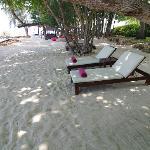 お部屋の前にあるプライベートビーチです
