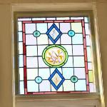One of the part stained glass