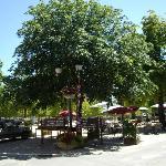 Tables in the Place de la Liberation, Saint Savin