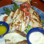 Wood Grilled Lobster, Shrimp & Scallops.... Yummy
