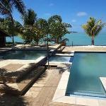 Pool with Lagoon Backdrop