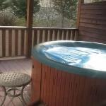 Private deck hot tub