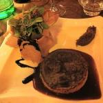 tarte au foie de volaille sur reduction de balsamique