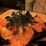 choucroute de la mer, saumon et coquillages